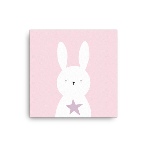 "16X16"" Bunny with Star Canvas Print"