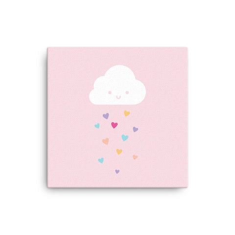 "16X16"" Cloud with Hearts Canvas Print"