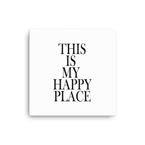 "16X16"" This is My Happy Face Canvas Print"