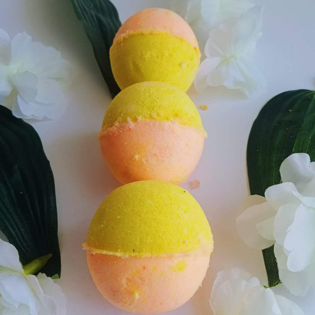Sweet Citrus Bath Bomb-Fizzy Aromatic Bath Bomb Orange & Lemon (75g Each) - Pack of 3 - aaranyam.com