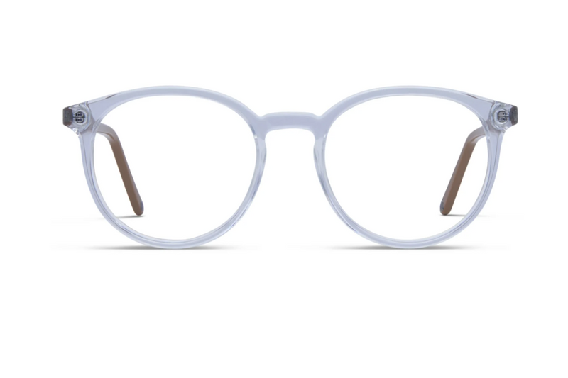 clear round womens glasses