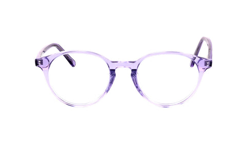 Blakely Blue Crystal Lavender Round Eye Blue Light Glasses
