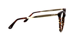 Belle Blue Tortoise Cat Eye Glasses with Gold Trim