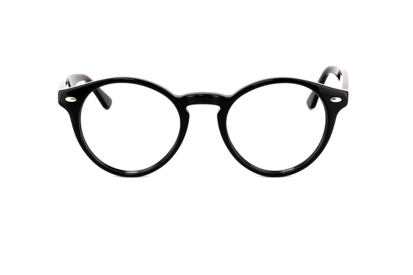 Brooklyn Blue Black Round Eye Glasses