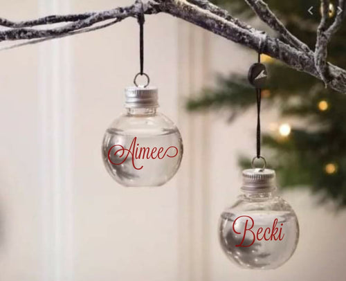 Boozy Christmas Baubles