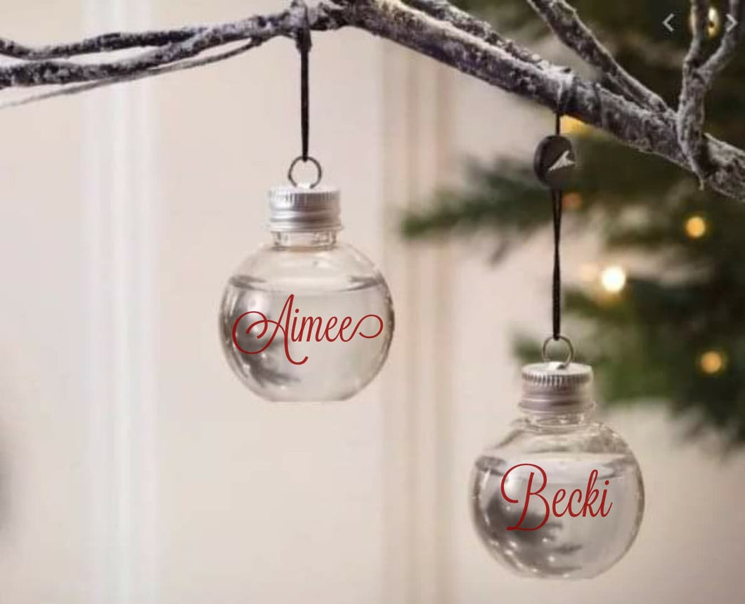 Booze Christmas Baubles
