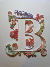 Load image into Gallery viewer, Quilled Initial B