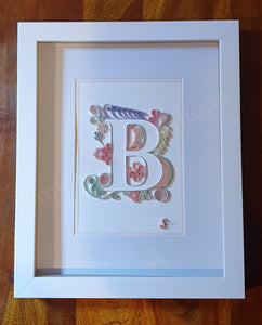 Quilled Initial B