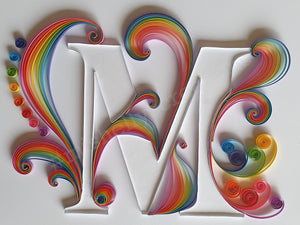 Quilled Initial M