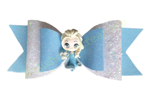 Ice Princess Inspired Bow