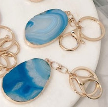 Load image into Gallery viewer, Agate Slice Key Ring