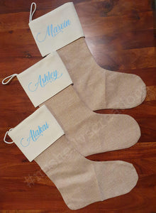 Hessian Personalised Stockings