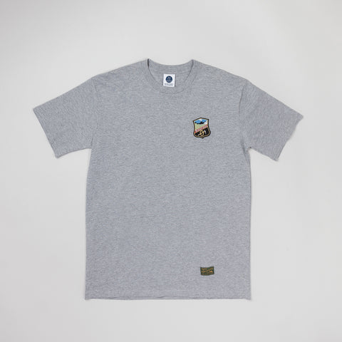 MP-001-SK : S/S BADGED T-SHIRT
