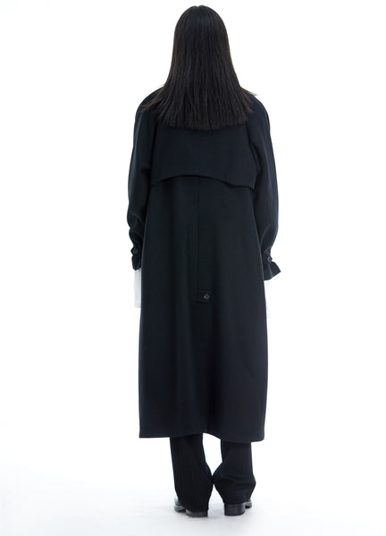 Wool Double-breasted Overcoat