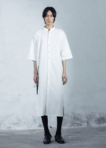 White Deconstructed Long Shirt