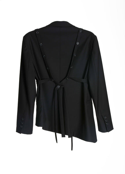Single-Breasted Unisex Strapped Blazer