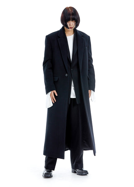 Velvet Single-breasted Overcoat
