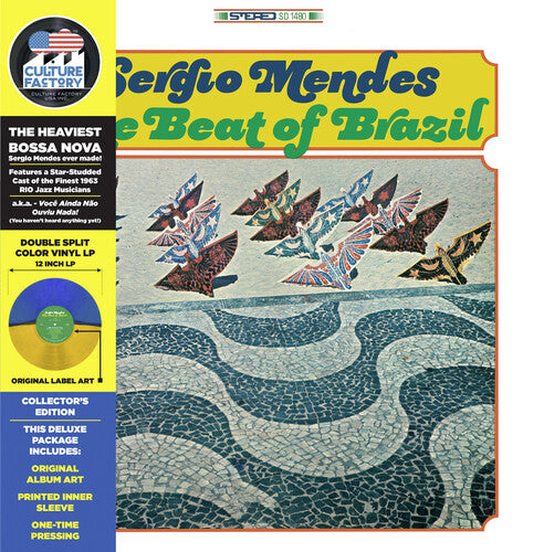 Sergio Mendes - The Beat Of Brazil [Green and Yellow Vinyl]  (New Vinyl LP)