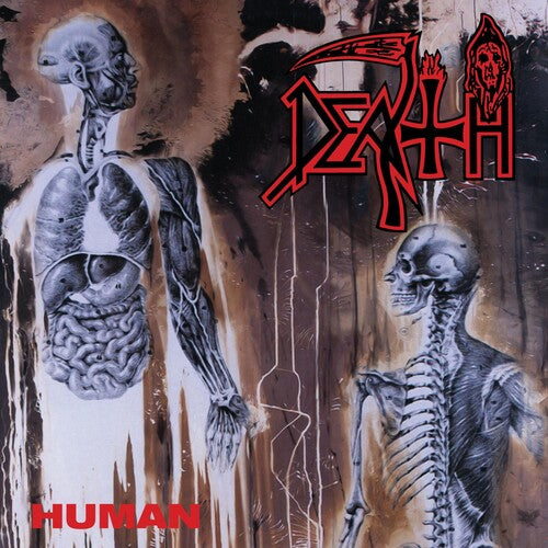 Death - Human [Clear w/Bone White, Red, Blue, Brown Splatter]  (New Vinyl LP)