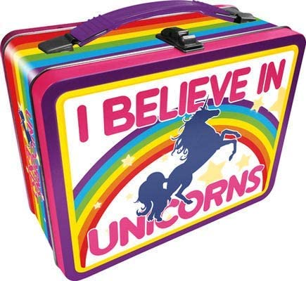 I Believe In Unicorns Lunchbox - Tin Tote