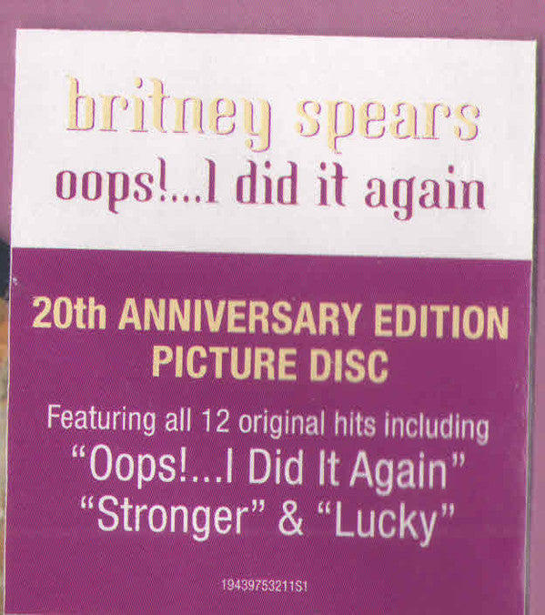 Britney Spears Oops I Did It Again Picture Disc New Vinyl Lp Mad World Records