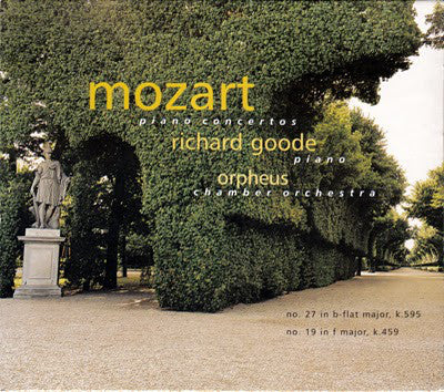 Mozart - Richard Goode, Orpheus Chamber Orchestra ‎– Piano Concertos (No. 27 In B-flat Major, K.595 / No. 19 In F Major K.459)  (Used CD)