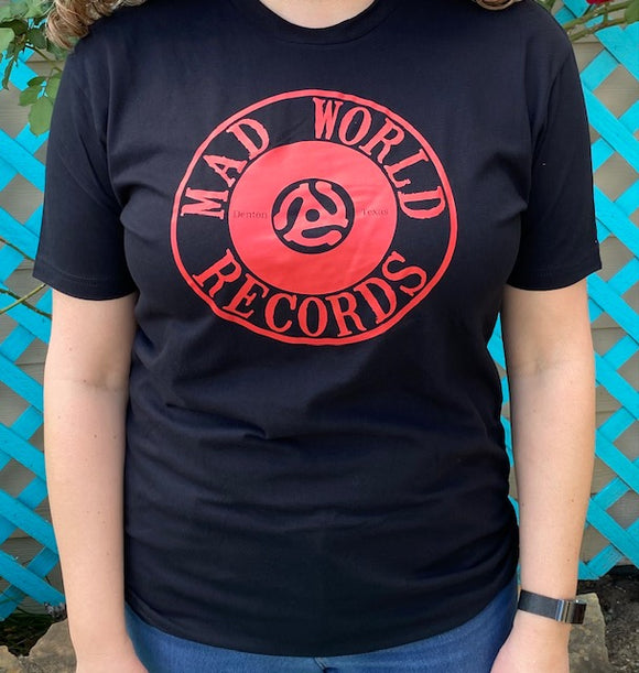 Mad World Records Unisex T-Shirt (Red)