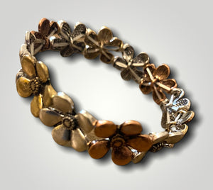 Bracelet - Stretch Tri Tone Flowers - So popular!