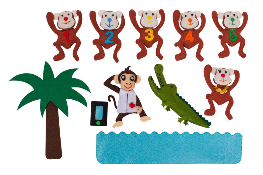 Five Little Monkeys Combination Character Set
