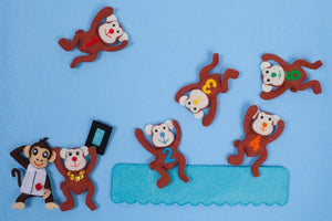 Five Little Monkeys Combination Felt Character Set