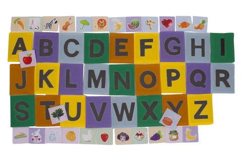 ABC Felt Sandpaper Alphabet with Matching Pictures