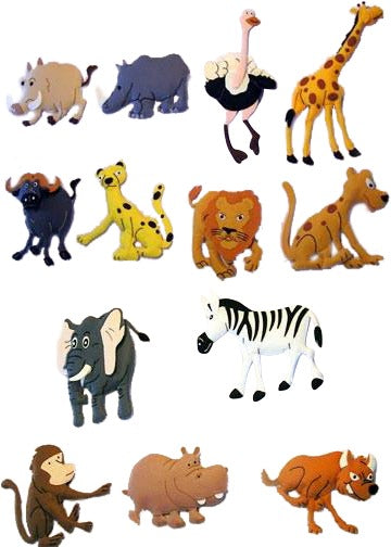 Safari Large Felt Set