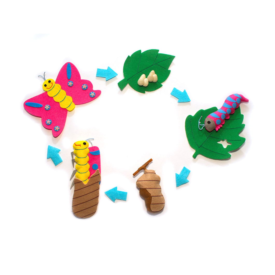 Life Cycle of the Butterfly Felt Set