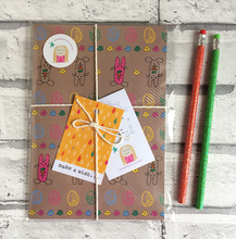 Load image into Gallery viewer, Cute notebook in sweet packaging with 2 pencils