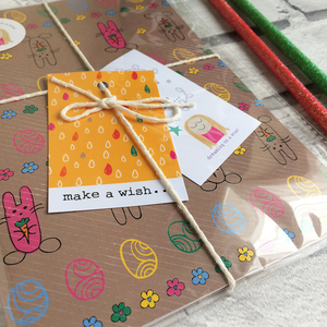 Cute notebook in pretty packaging with 2 pencils