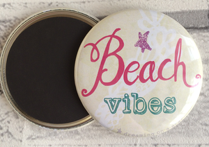 'Beach Vibes' illustrated 58mm magnet