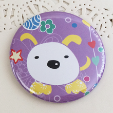 Load image into Gallery viewer, Purple dog kawaii illustrated 58mm magnet