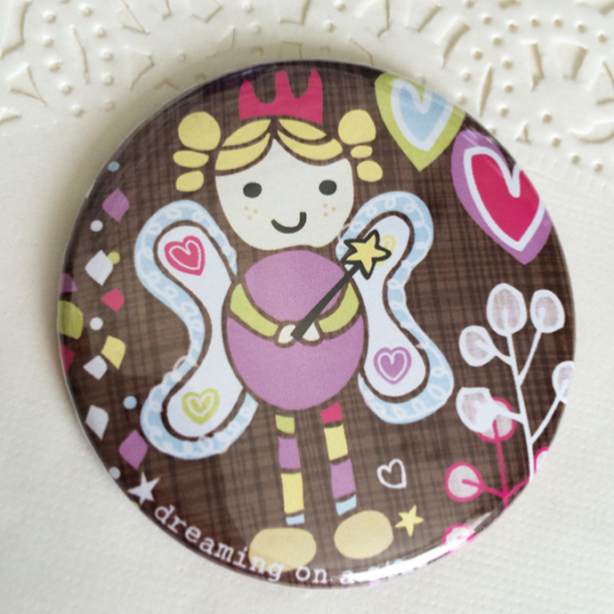 Fairy illustration on pocket mirror