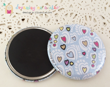 Load image into Gallery viewer, Hearts illustrated 58mm magnet