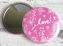 Load image into Gallery viewer, Pretty love illustrated pocket mirror