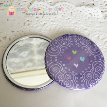 Load image into Gallery viewer, Pretty Illustrated 58mm Pocket Mirror