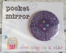 Load image into Gallery viewer, Pretty Illustrated 58mm Pocket Mirror In cute packaging