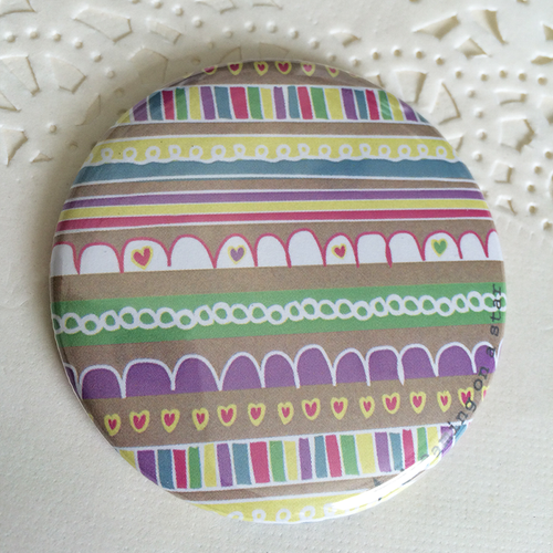 Cute illustrated pocket mirror