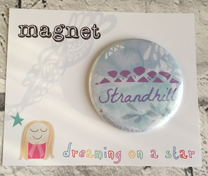 Strandhill illustrated 58mm magnet in cute packaging
