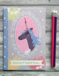 'Magical Unicorn' A5 Notebook