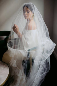 Rushed Tulle Veil