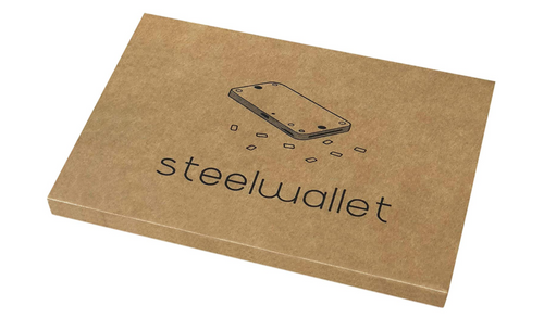 Cryptocurrency Steel Wallet Indestructible Cold Wallet Backup Compatible with Ledger Nano S, Trezor and KeepKey Hardware Wallet