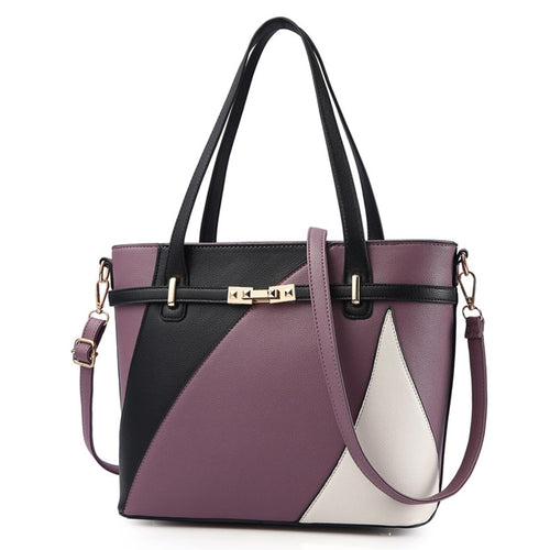 Women's PU Leather Shoulder Tote Bag