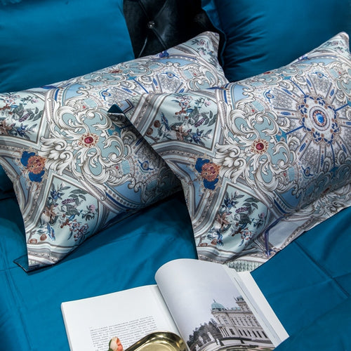 Four Piece Egyptian Сotton Bedding Set with Print