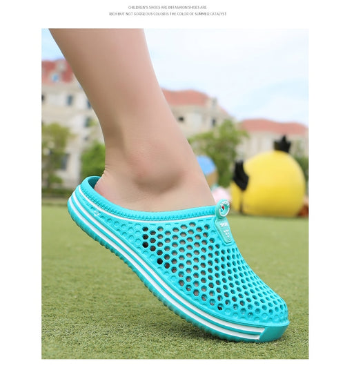 Men's Women's Breathable Rubber Closed Toe Outdoor Slippers